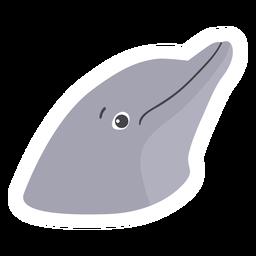 Delphinkopf flacher Aufkleber