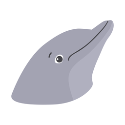 Pegatina plana cabeza de delfín