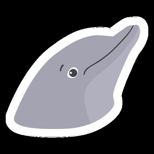 Pegatina plana cabeza de delfín Transparent PNG