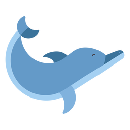 Delphin schwimmen Flipper Schwanz flach gerundet geometrisch