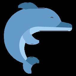 Nadadeira de cauda de golfinho plana arredondada geométrica