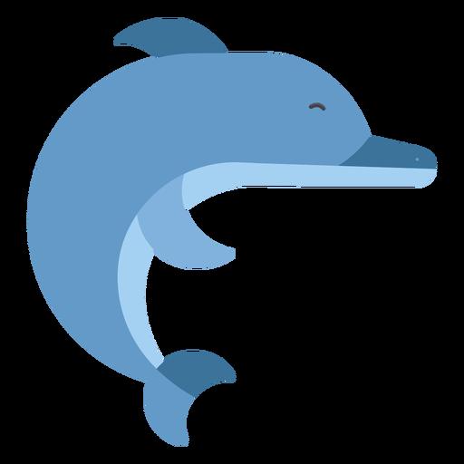 Aleta cola de delfín natación plana redondeada geométrica. Transparent PNG