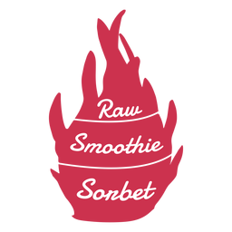 Dragon fruit raw smoothie sonbet flat