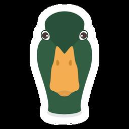 Pato bico pato selvagem cabeça de pato selvagem