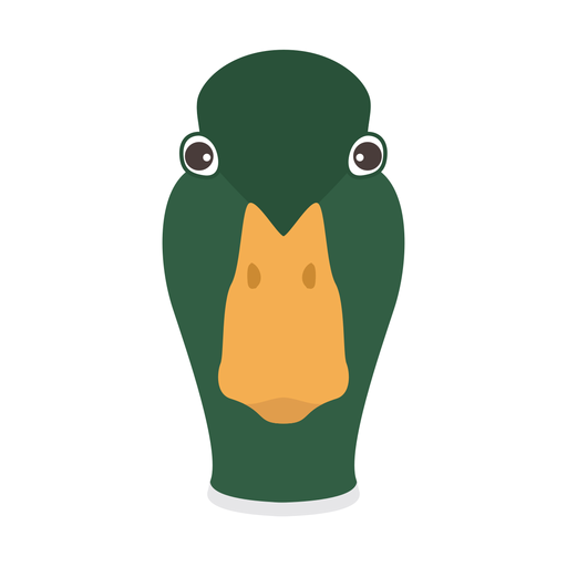 Etiqueta engomada plana de la cabeza del pato salvaje drake pico de pato Transparent PNG