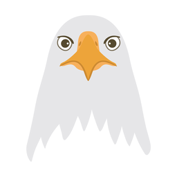 Adesivo de cabeça de bico de águia