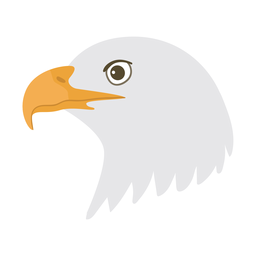 Eagle head beak flat sticker