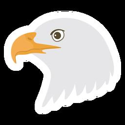 Flacher Aufkleber des Adlerkopfschnabels