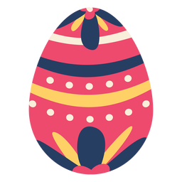 Egg easter painted easter egg easter egg flower pattern spot stripe flat