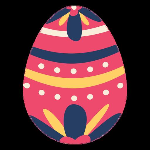 Huevo pascua pintado huevo de pascua huevo de pascua patrón de flores punto raya plana Transparent PNG