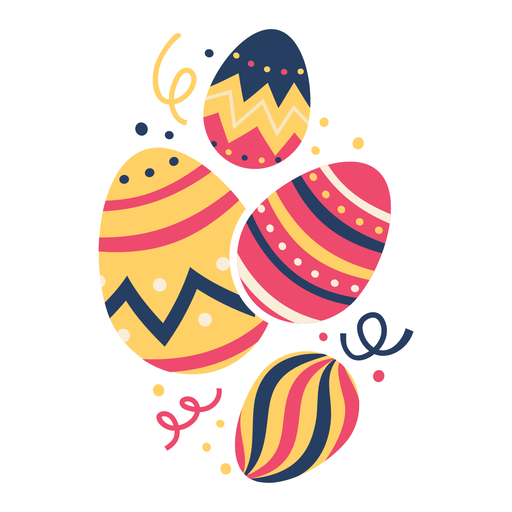 Egg easter painted easter egg easter egg four pattern flat Transparent PNG