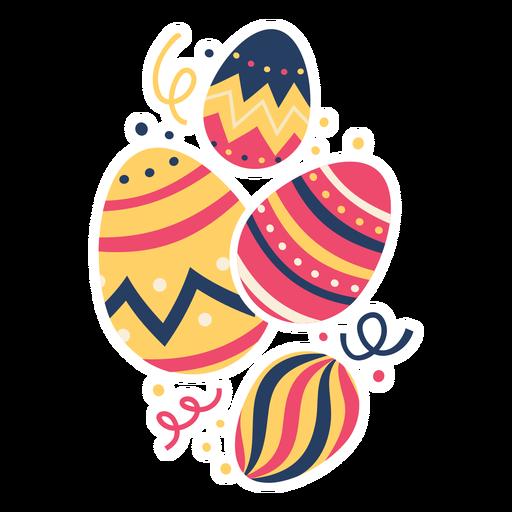 Huevo pascua pintado huevo de pascua huevo de pascua cuatro patrón plano Transparent PNG