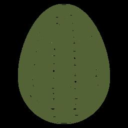 Huevo de Pascua pintado huevo de Pascua huevo de Pascua patrón círculo punto silueta