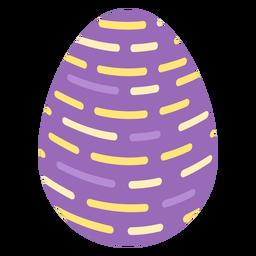 Ei Ostern gemaltes Osterei Osterei Muster strich Linie flach