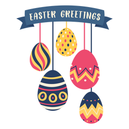Egg easter painted easter egg easter egg pattern five easter greetings flat