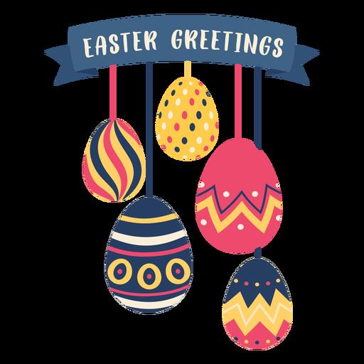Egg easter painted easter egg easter egg pattern five easter greetings flat Transparent PNG