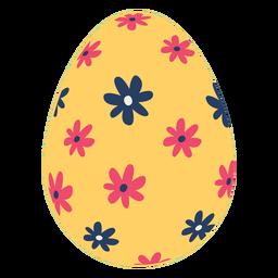 Ei Ostern gemalte Osterei Osterei-Musterblume flach