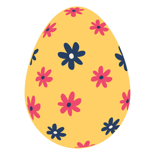 Egg easter painted easter egg easter egg pattern flower flat Transparent PNG