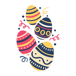 Ei Ostern gemaltes Osterei Osterei-Muster vier flach