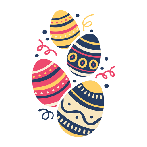 Huevo pascua pintado huevo de pascua huevo de pascua patrón cuatro plano Transparent PNG