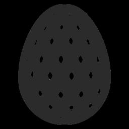 Huevo de Pascua pintado huevo de Pascua huevo de Pascua patrón oval punto silueta