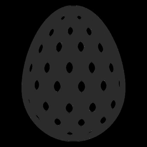 Huevo de Pascua pintado huevo de Pascua huevo de Pascua patrón oval punto silueta Transparent PNG