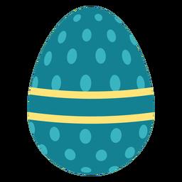 Ei Ostern gemalter Ostereier Ostereimuster-Ovalstreifen flach