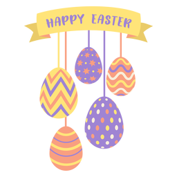 Egg easter painted easter egg easter egg pattern ribbon five happy easter flat