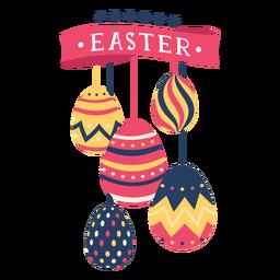 Huevo de Pascua pintado huevo de Pascua huevo de Pascua patrón cinta cinco estrellas plana