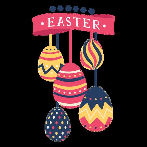 Egg easter painted easter egg easter egg pattern ribbon five star flat Transparent PNG