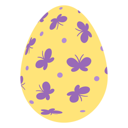 Ei Ostern gemalt Osterei Osterei Muster Muster Schmetterling flach