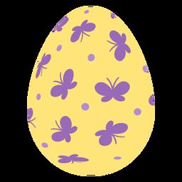 Ei Ostern gemalter Osterei Ostereimuster-Stellenschmetterling flach