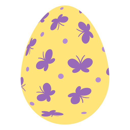 Egg easter painted easter egg easter egg pattern spot butterfly flat Transparent PNG