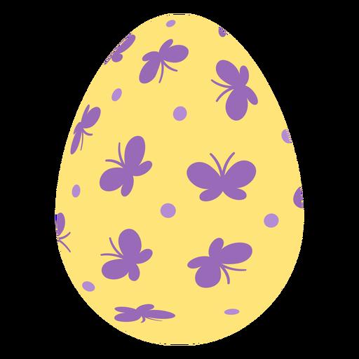 Huevo de Pascua pintado huevo de Pascua huevo de Pascua patrón punto mariposa plana Transparent PNG