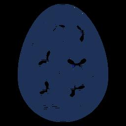 Ei Ostern gemaltes Osterei Ostereimusterpunkt-Schmetterlingsschattenbild