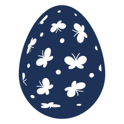 Huevo Pascua pintado huevo de Pascua huevo de Pascua patrón punto mariposa silueta