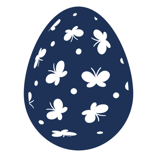 Egg easter painted easter egg easter egg pattern spot butterfly silhouette Transparent PNG