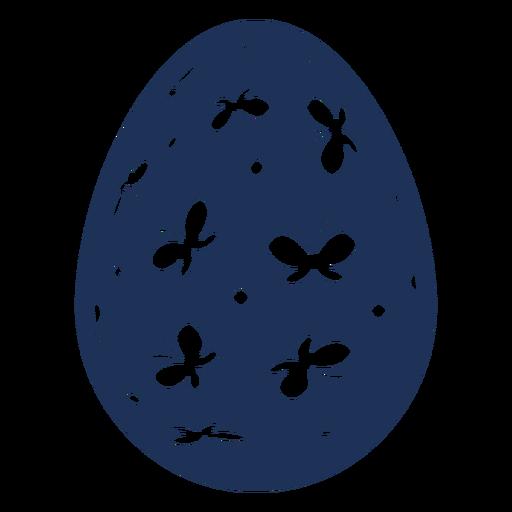 Ei Ostern gemaltes Osterei Ostereimusterpunkt-Schmetterlingsschattenbild Transparent PNG