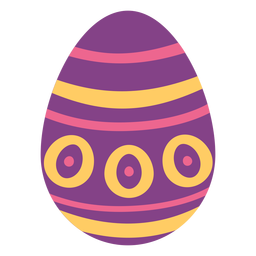 Egg easter painted easter egg easter egg pattern spot circle stripe flat