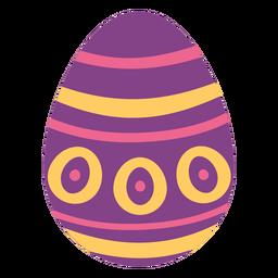 Ei Ostern gemalter Osterei Ostereimusterstellen-Kreisstreifen flach