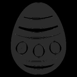 Ei Ostern gemaltes Osterei Ostereimusterpunktkreis-Streifenschattenbild