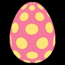 Huevo de Pascua pintado huevo de Pascua huevo de Pascua patrón punto oval plana