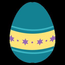 Huevo de Pascua pintado huevo de Pascua huevo de Pascua patrón punto estrella plana