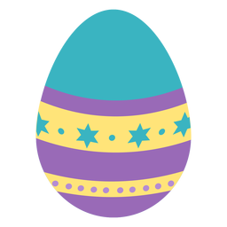 Egg easter painted easter egg easter egg pattern spot star stripe flat