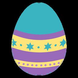 Huevo de Pascua pintado huevo de Pascua huevo de Pascua patrón punto estrella raya plana
