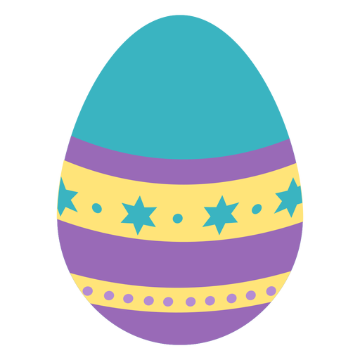 Egg easter painted easter egg easter egg pattern spot star stripe flat Transparent PNG