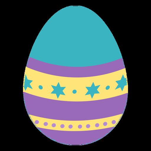 Huevo de Pascua pintado huevo de Pascua huevo de Pascua patrón punto estrella raya plana Transparent PNG