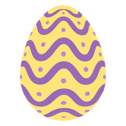 Egg easter painted easter egg easter egg pattern spot wave flat