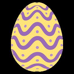 Huevo de Pascua pintado huevo de Pascua huevo de Pascua patrón punto ola plana