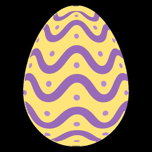 Egg easter painted easter egg easter egg pattern spot wave flat Transparent PNG